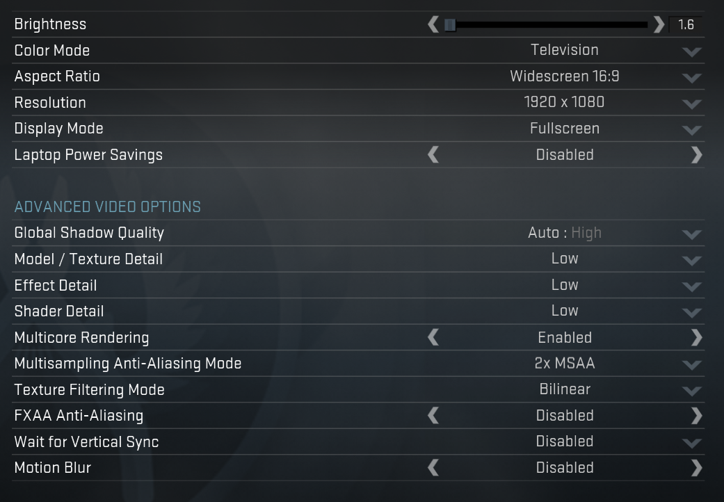 best csgo settings list