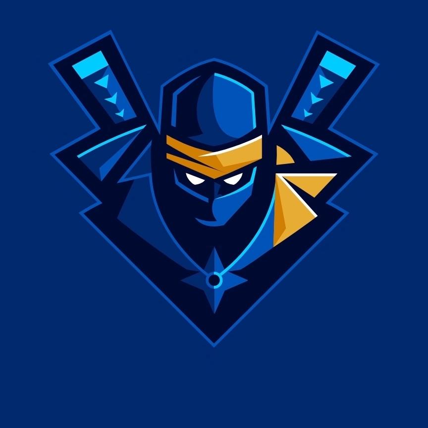 how to draw ninja fortnite logo