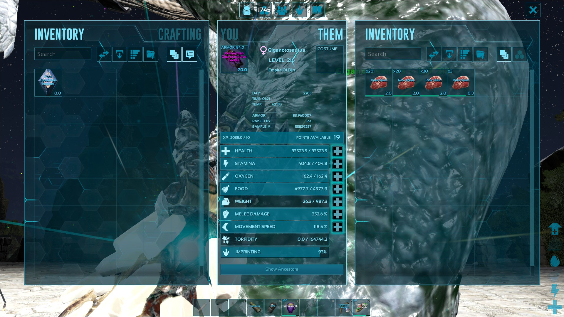Pc pve trading giga for rex saddle bp arktrading i have a full grown giga female 285 base damage with 93 imprint im looking for a mc rex saddle bp 80 armor or more malvernweather Images