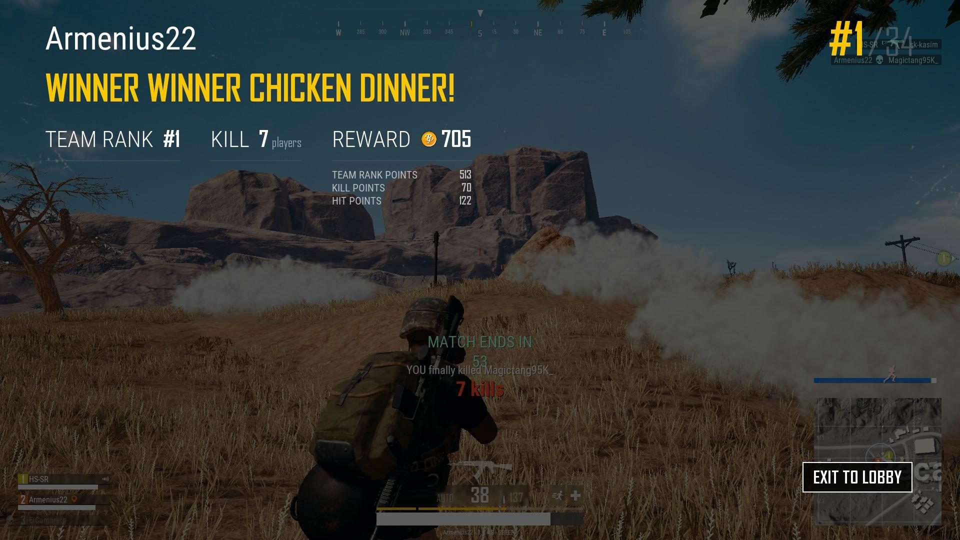 Winner Winner Chicken Dinner Wallpapers: Steam コミュニティ :: スクリーンショット :: WINNER WINNER CHICKEN DINNER