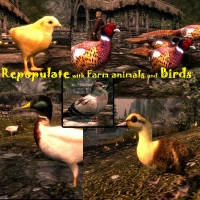 Repopulate Skyrim with Farm Animals and Birds 2.3.2画像