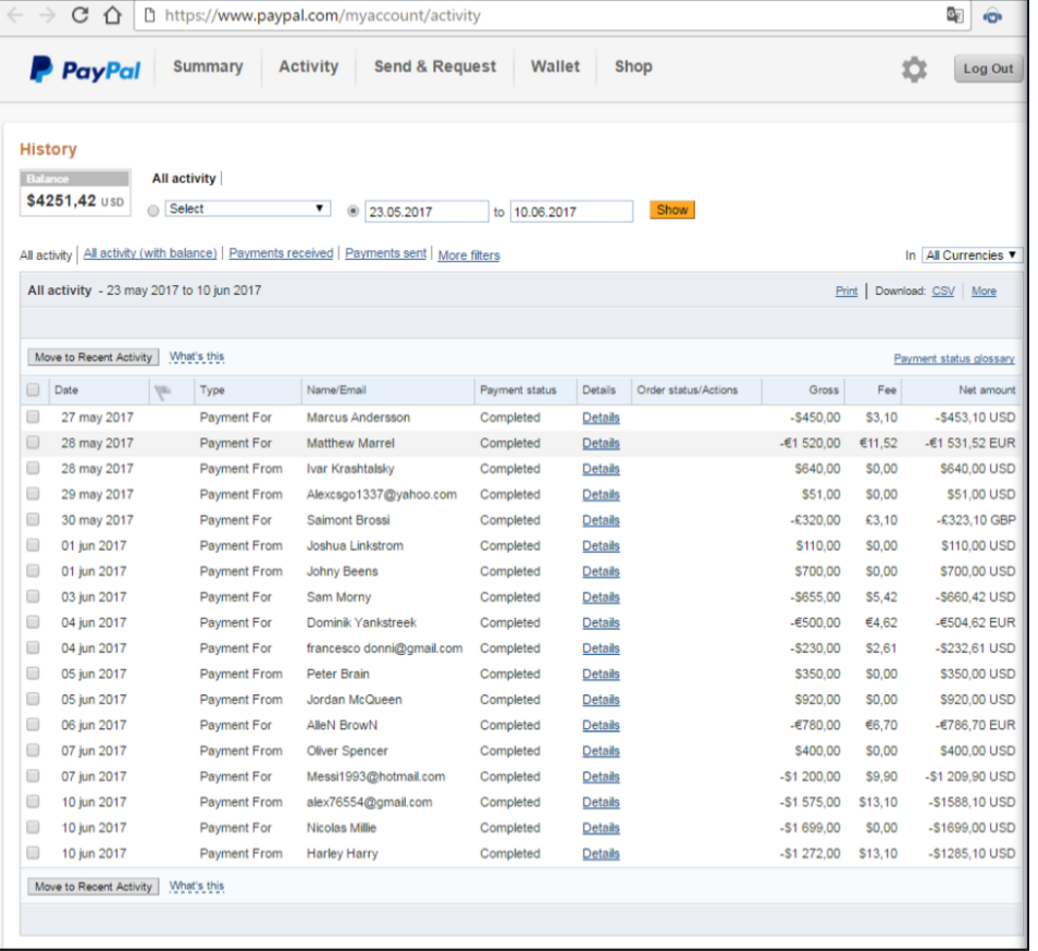 Steam Community :: :: paypal history