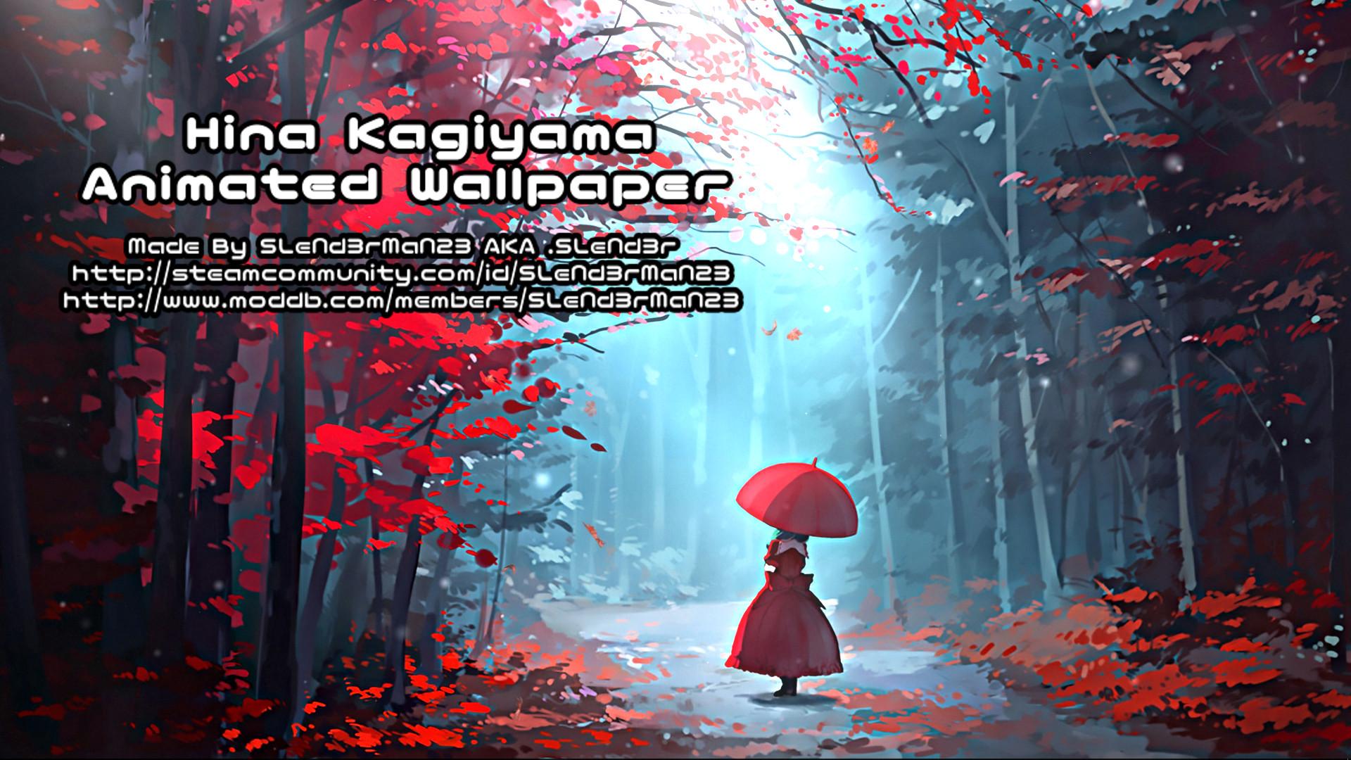 Steam Workshop Hina Kagiyama Animated Touhou Wallpaper 1st