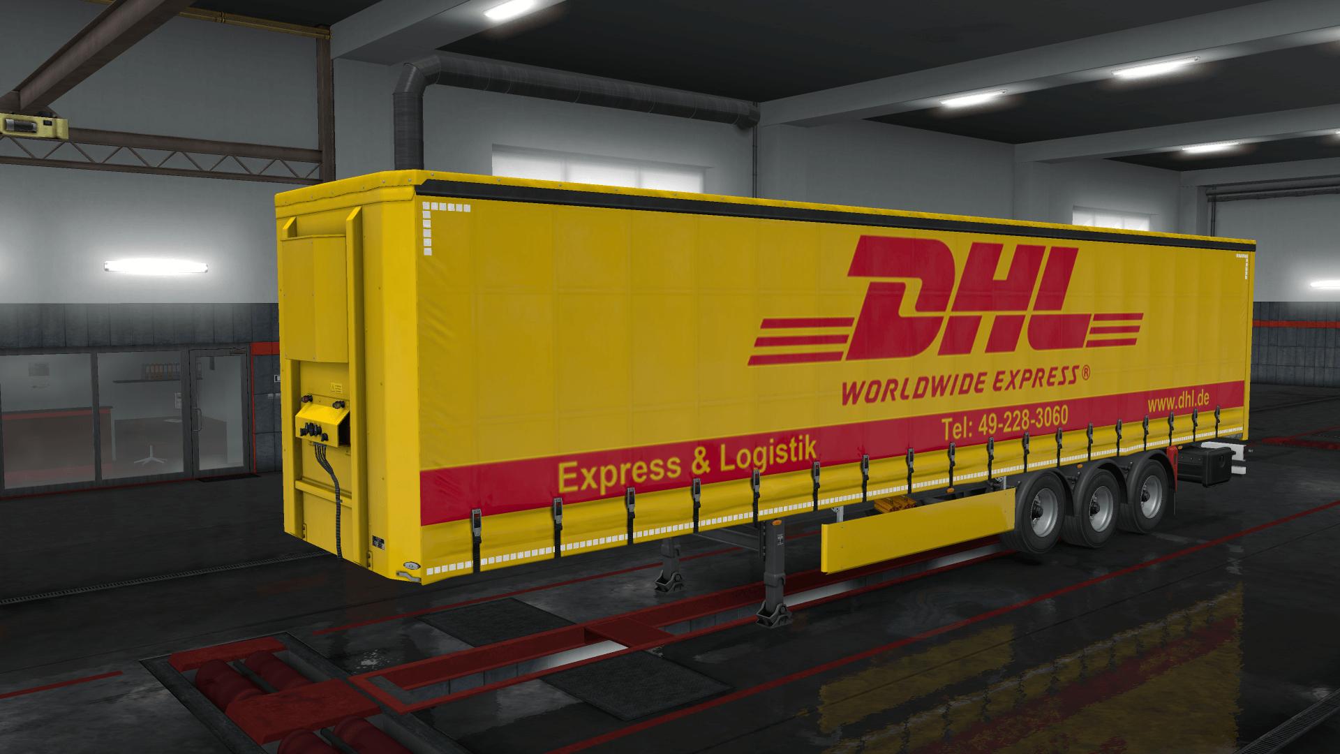 DHL standard Trailer Skin Pack