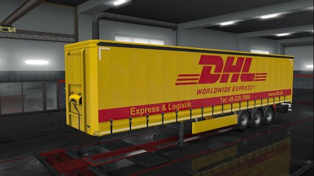 DHL standart Trailer Skin Pack