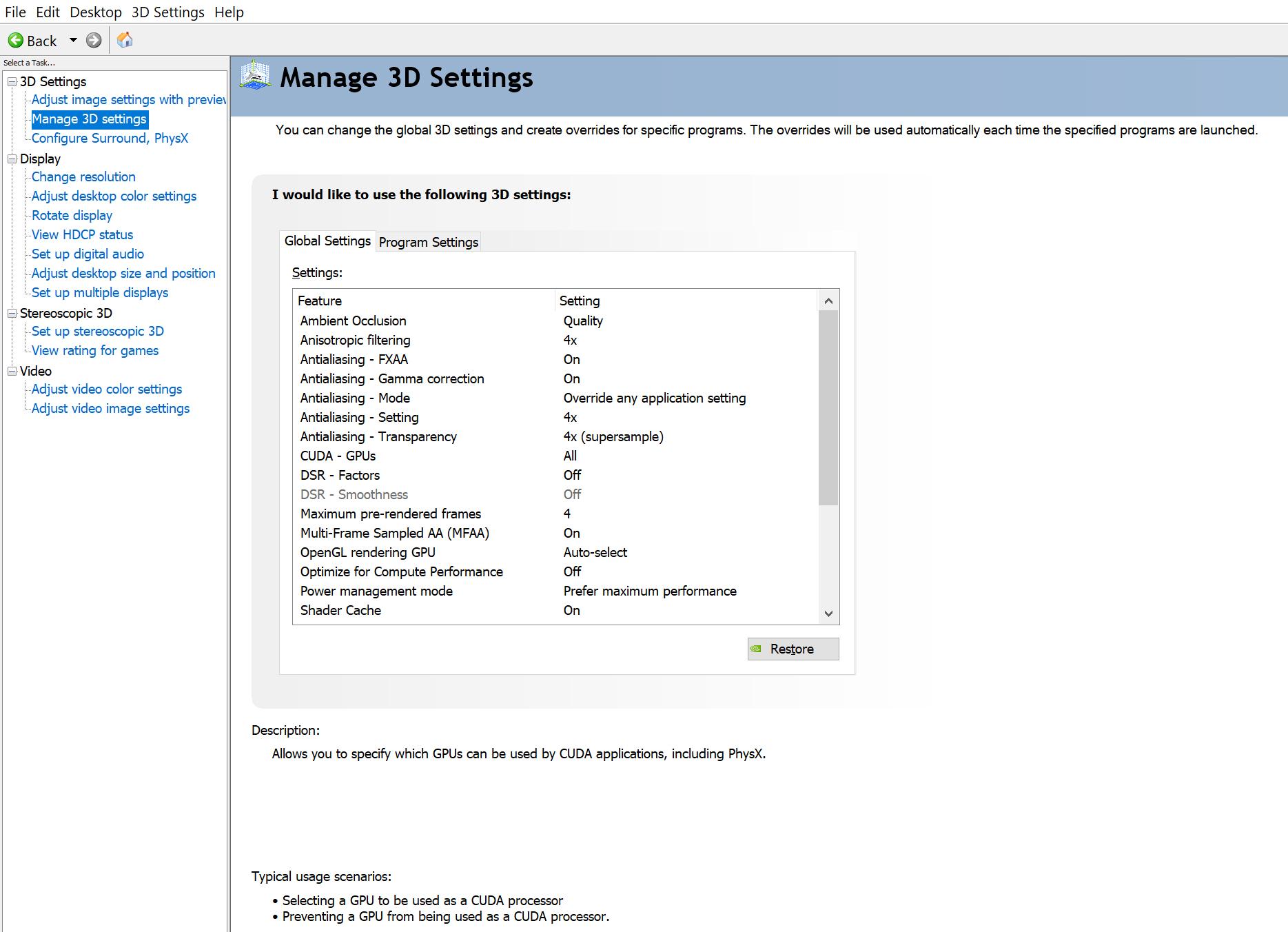 Steam Community :: Guide :: Nvidia Control panel Settings