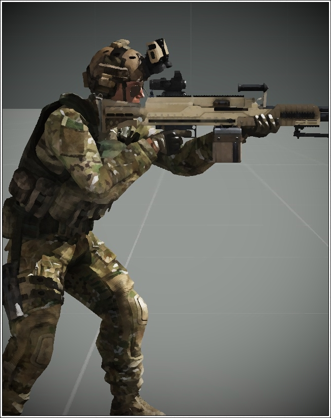 NATO Soldier With SPMG