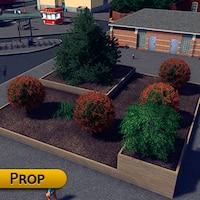 9589d4793fd Medium terraced wooden planter prop