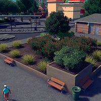 cdc85b6fb3c Medium terraced wooden planter 2