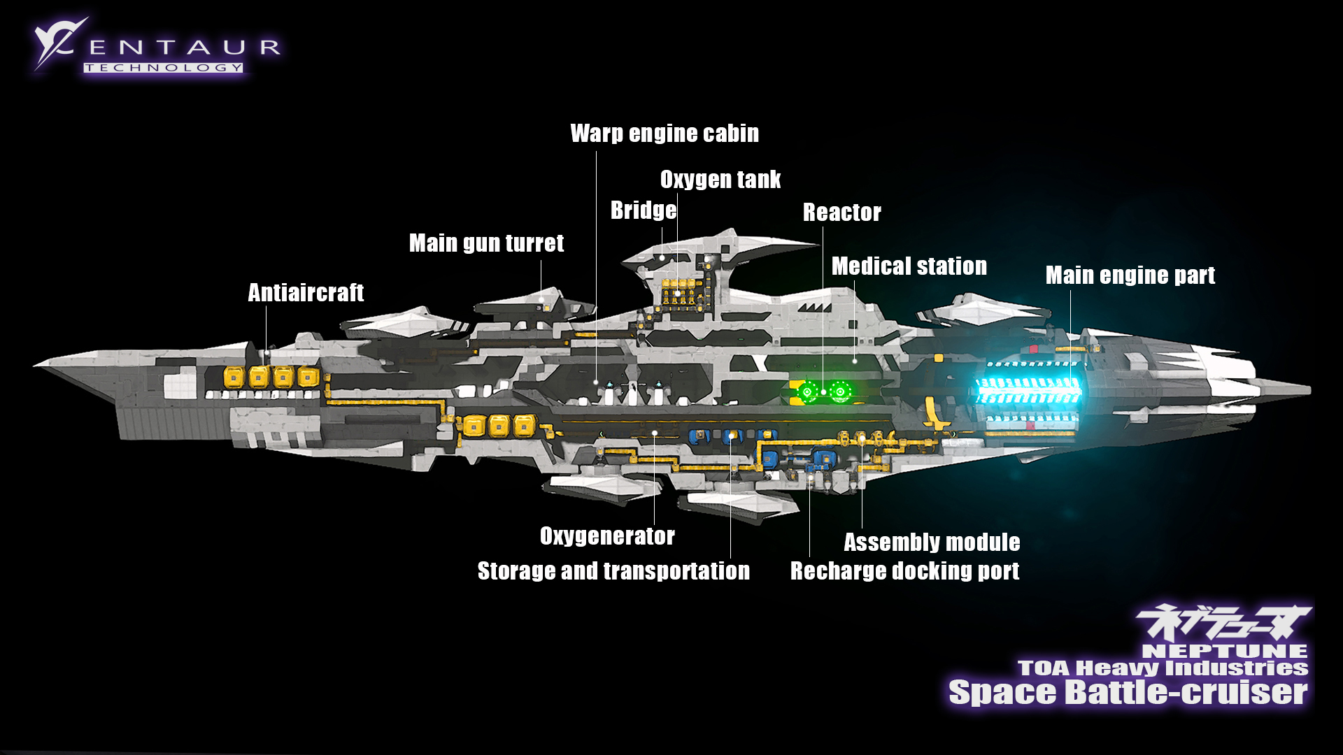 Space BattleCruiser NEPTUNE        Space Engineers