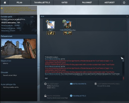 Csgo your matchmaking experience will be significantly affected