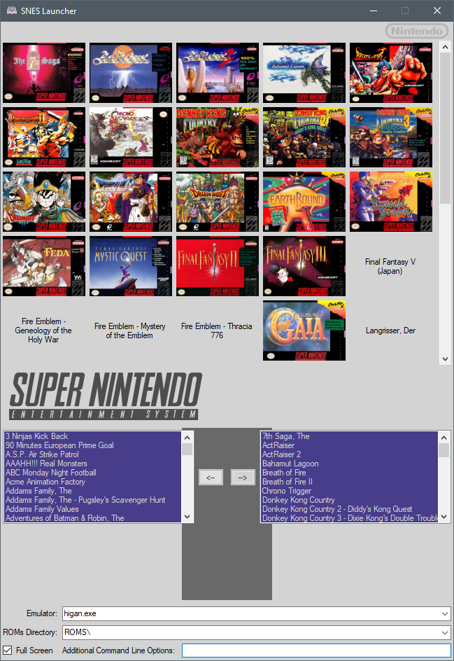 byuu's message board - View topic - SNES Launcher