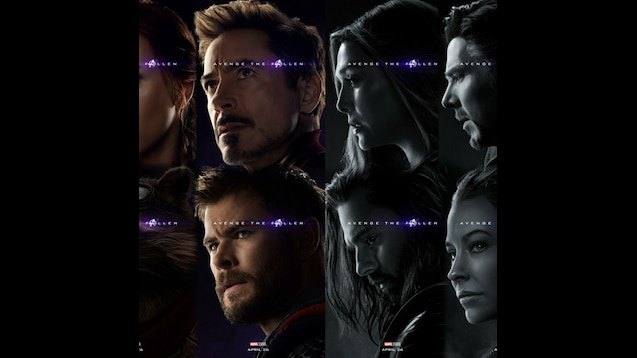 Steam Workshop Avengers Endgame Posters Dual Monitor
