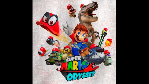 Steam Workshop Super Mario Odyssey Flag Wallpaper