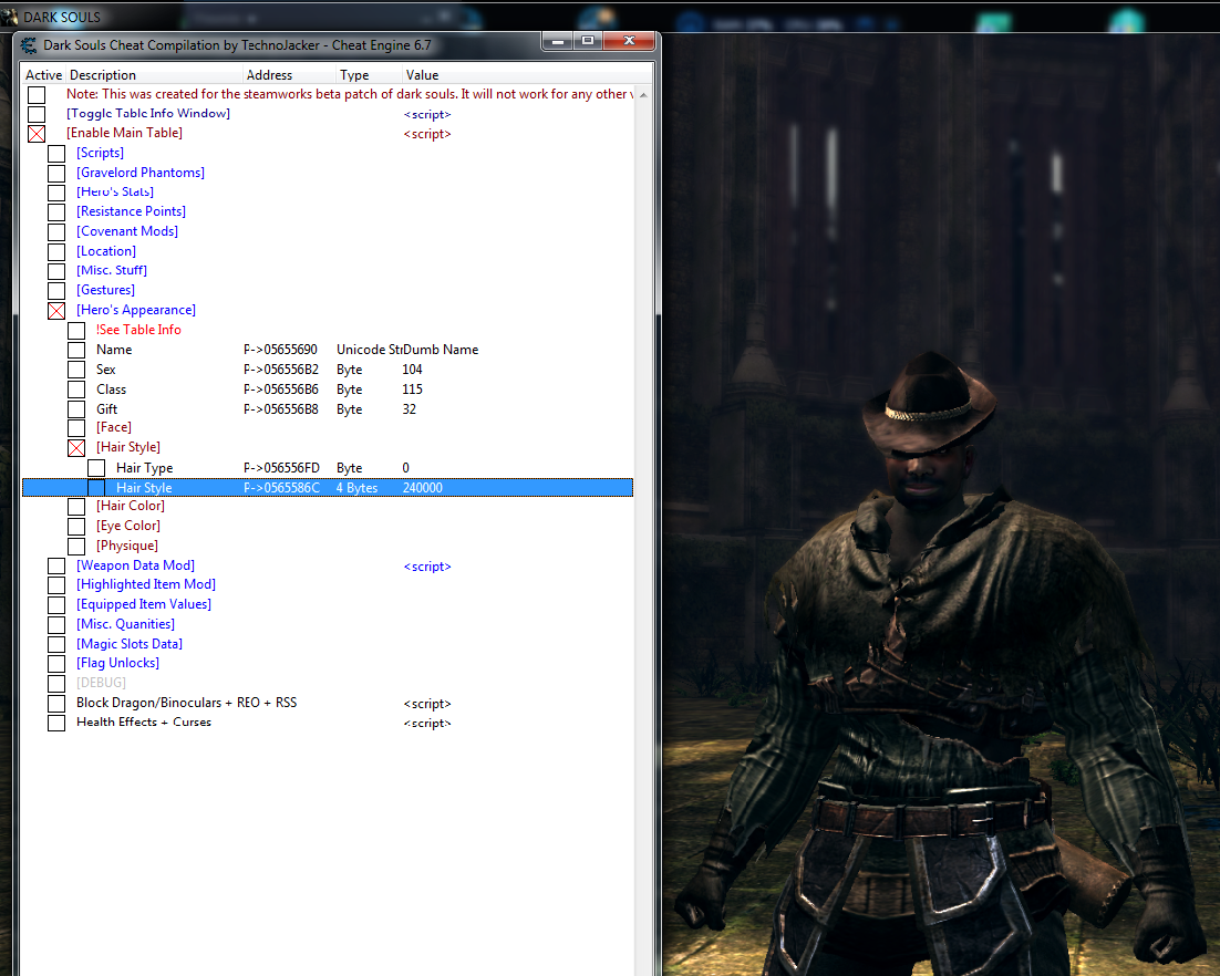 Steam Community :: Guide :: Fashion Souls with Cheat Engine