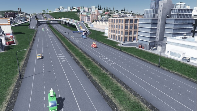 Carpool Lane Rules >> Steam Workshop 4 Lane Highway With Carpool Lane