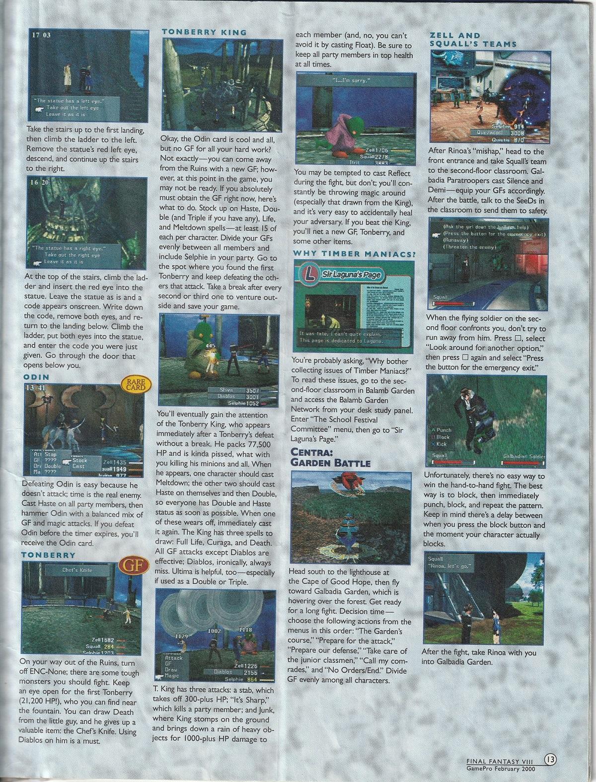 Steam Community :: Guide :: Final Fantasy VIII GamePro