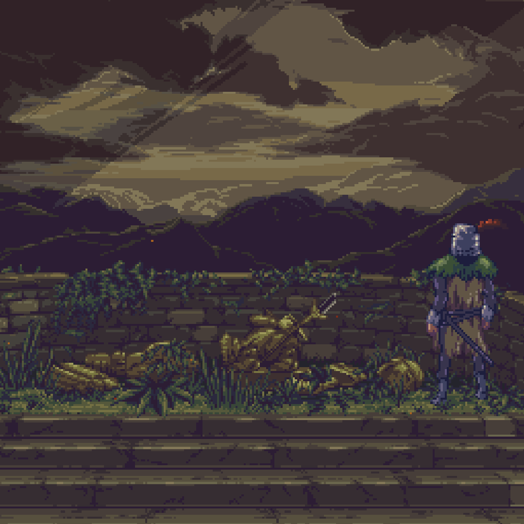 Steam Workshop Solaire Gazing At The Sun Pixel Animated Dark