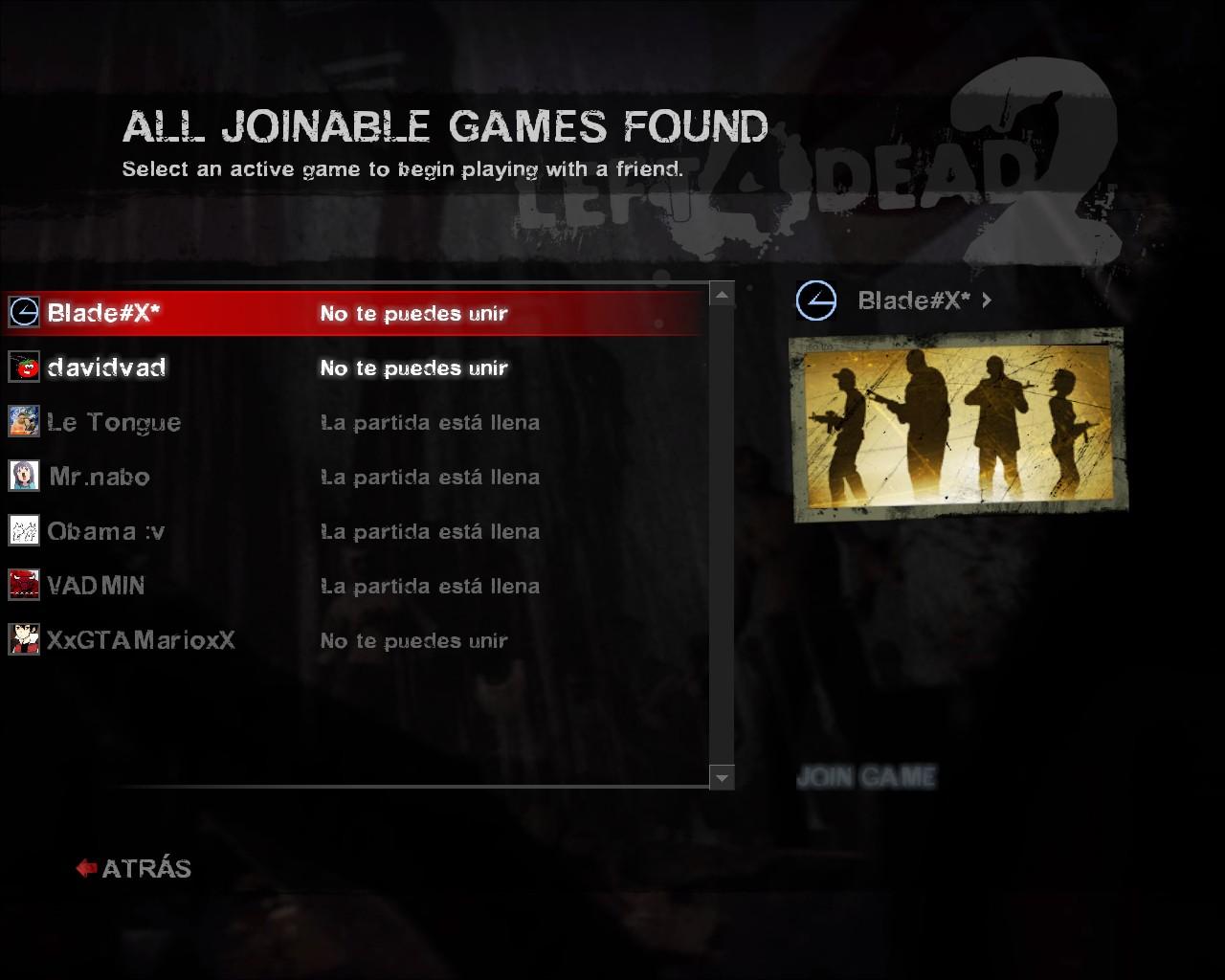 Left for dead 2 not in joinable game jetbull casino bonus code