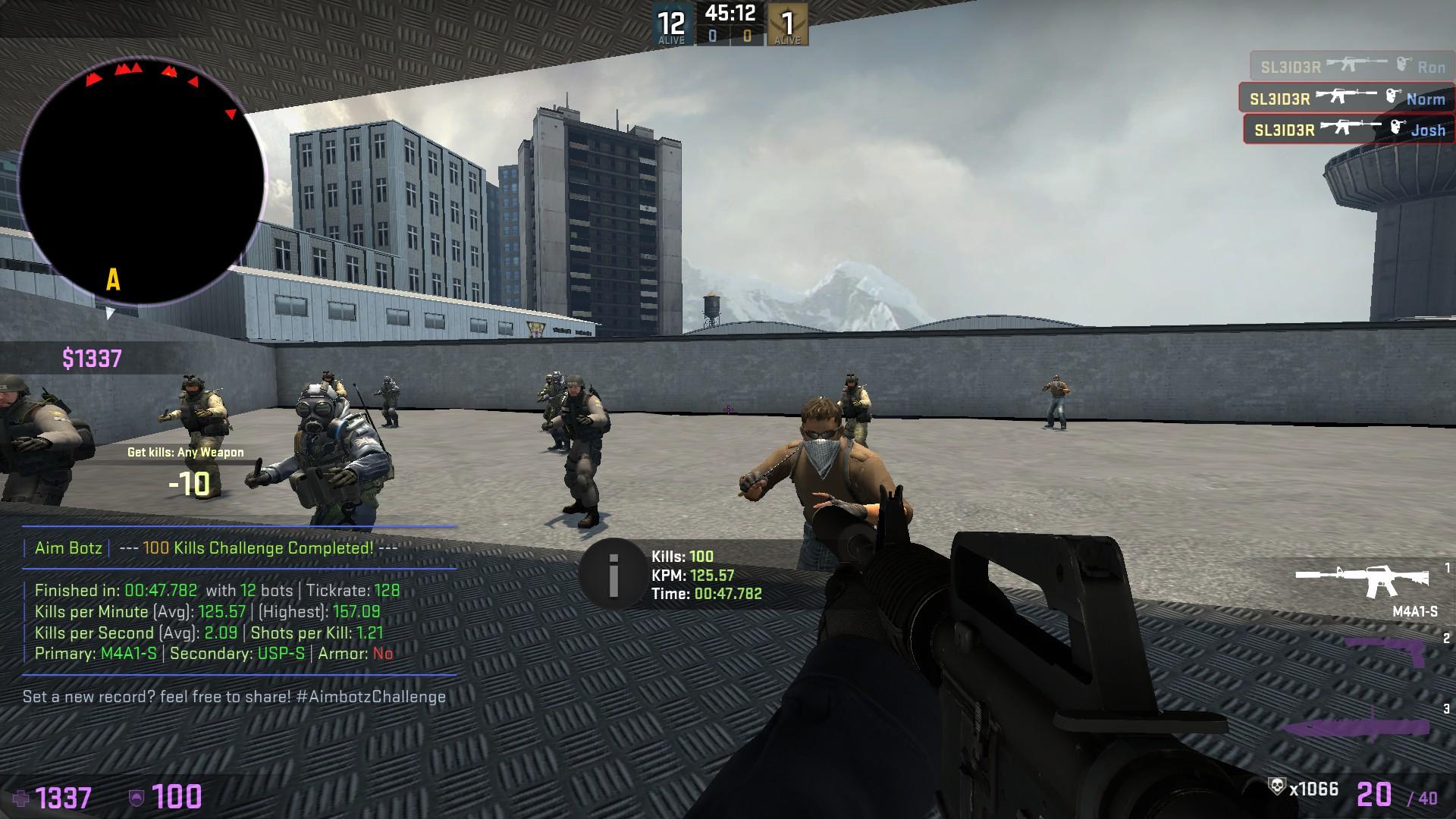 TenZ 50 2 second aim_botz : GlobalOffensive