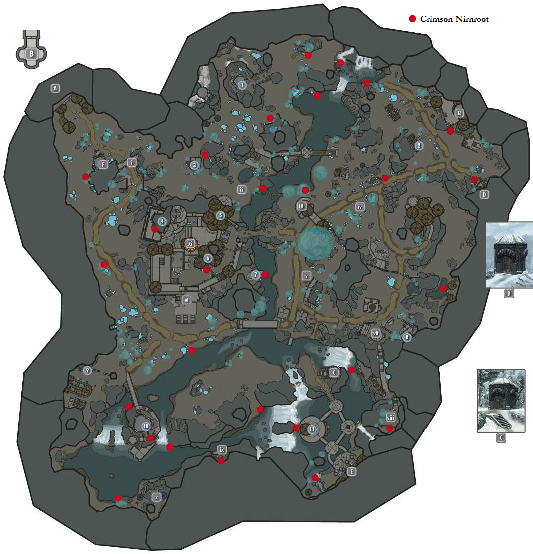 Crimson Nirnroot Map Steam Community :: Guide :: Crimson Nirnroot Map (Blackreach) Crimson Nirnroot Map