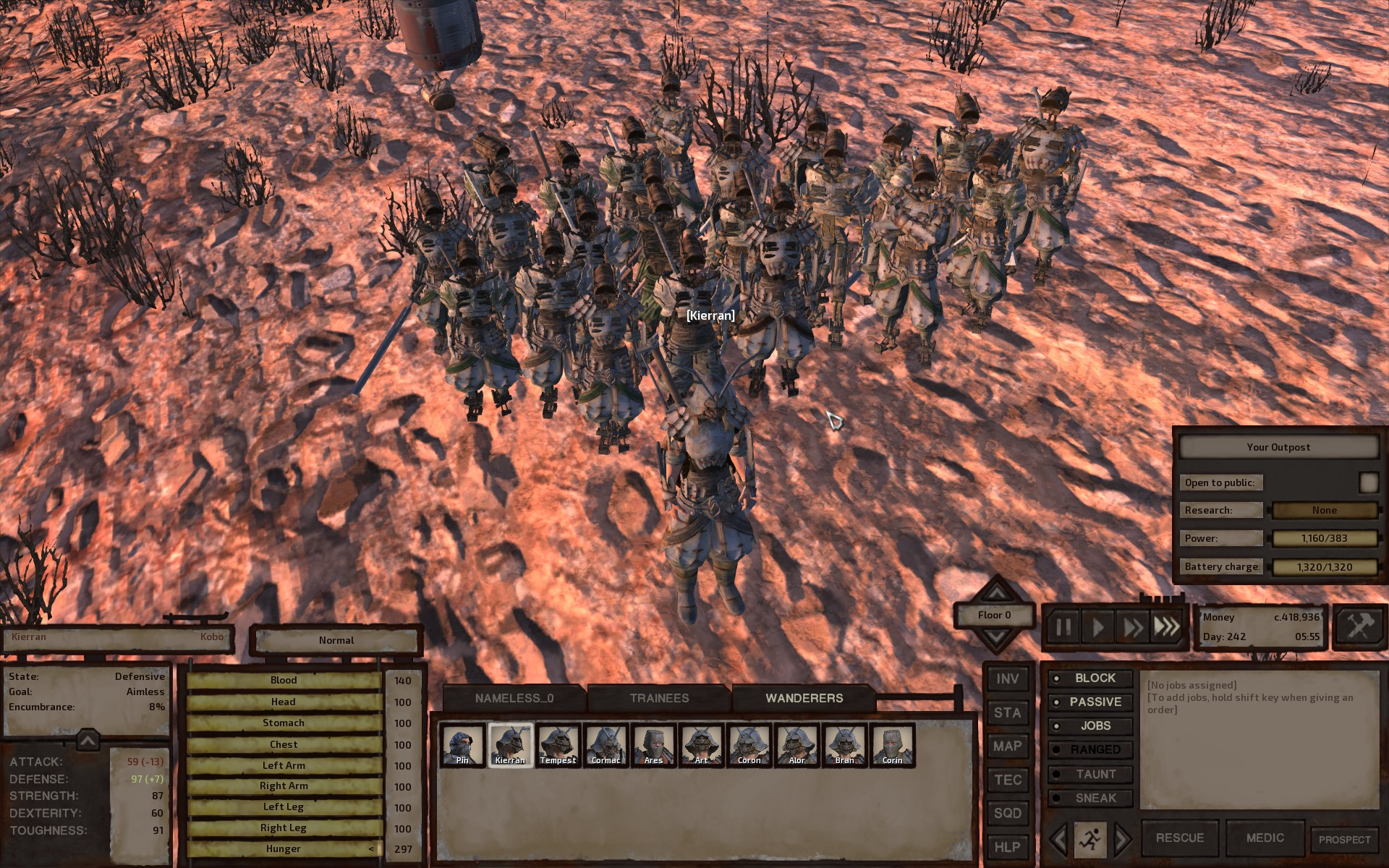 How do I deal with a horde of broken skeleton bodyguards