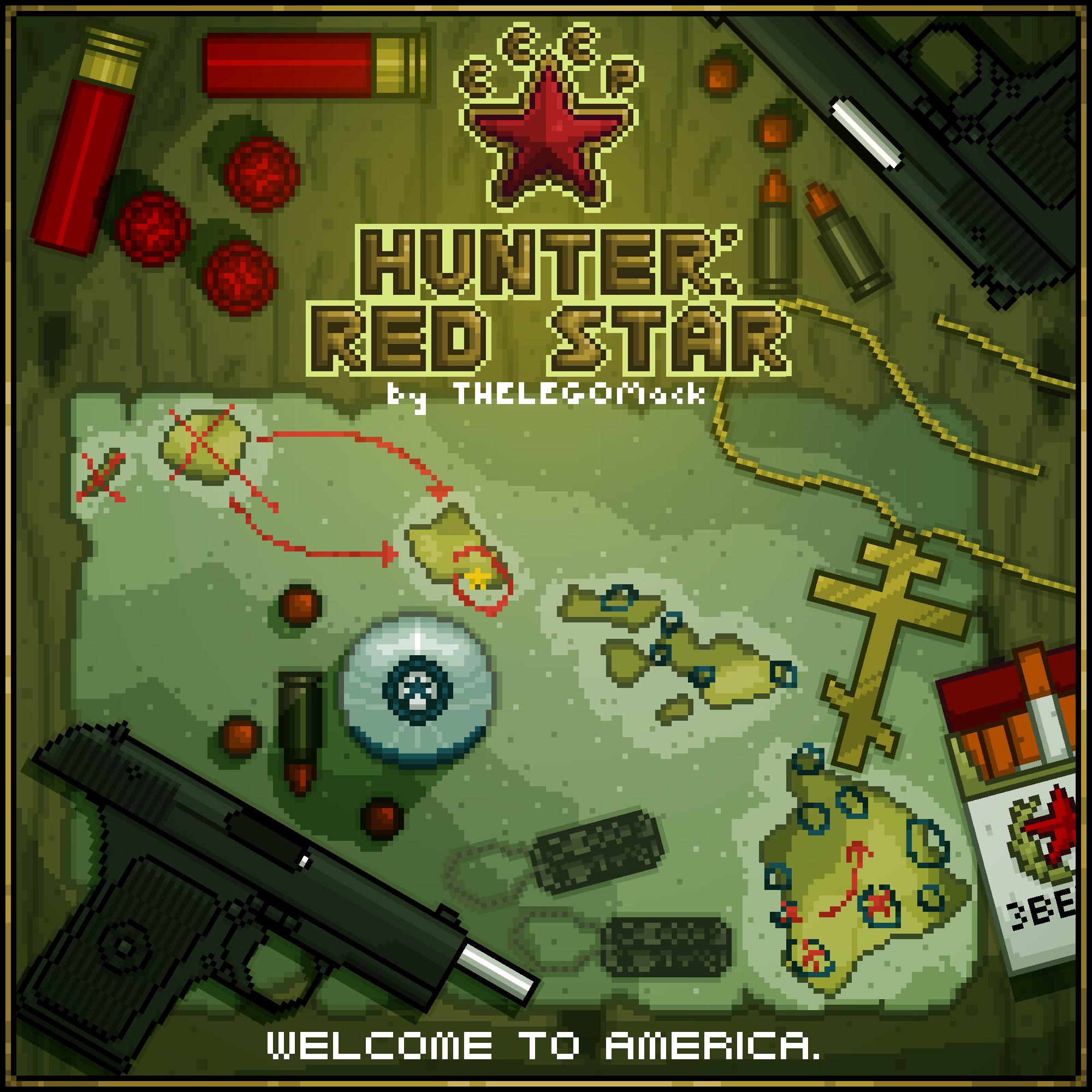 Hunter: Red Star [13 Levels; Easy-Hard]