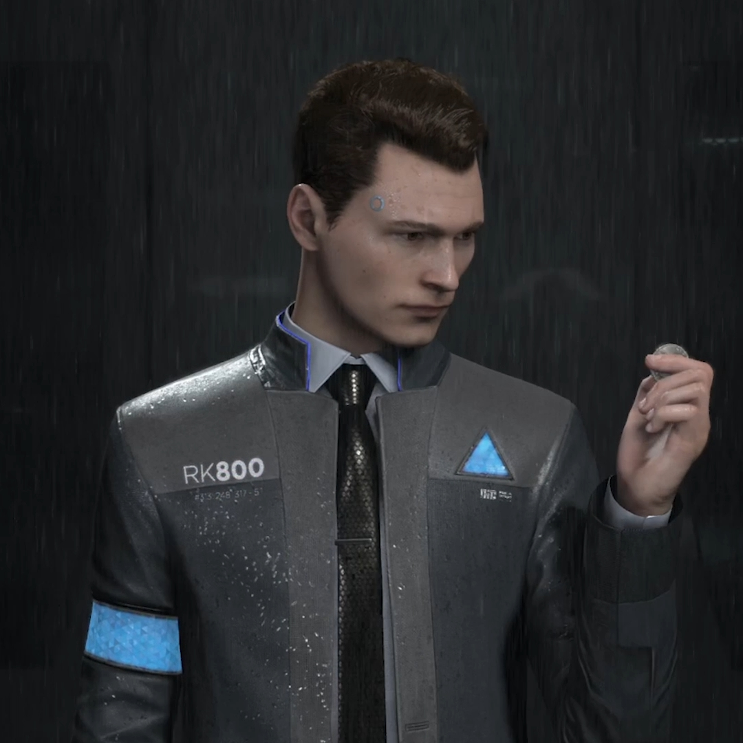 Detroit: Become Human Connor Wallpaper (Rain)