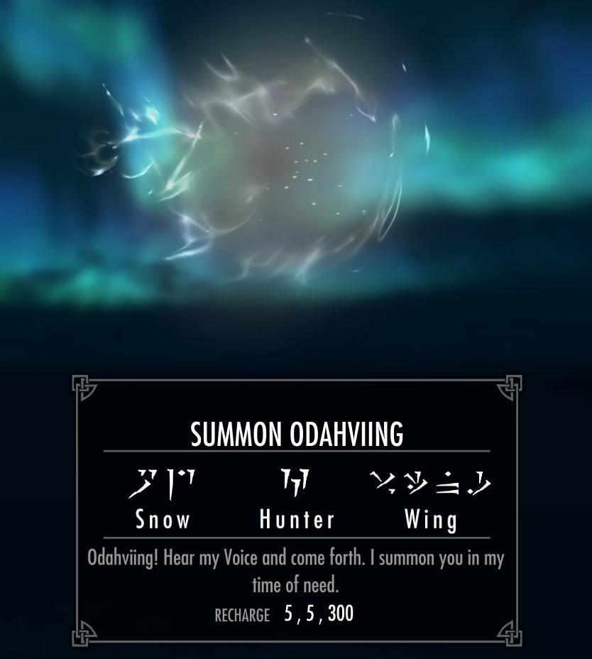 "Change ""Call Dragon"" Shout Name to ""Summon Odahviing""画像"