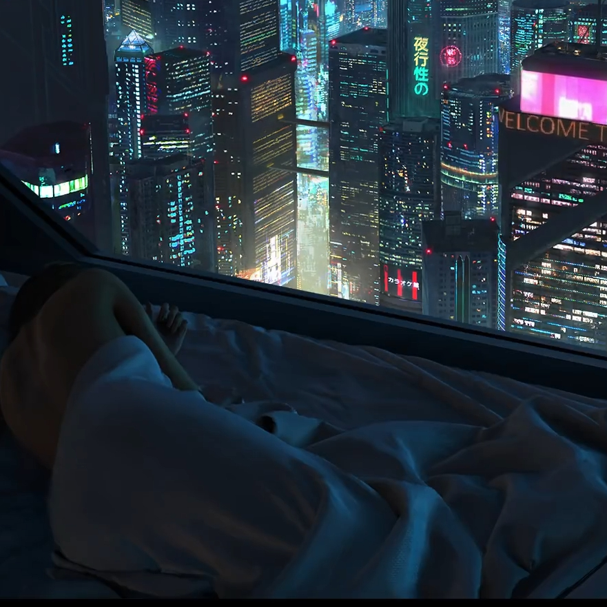 2AM Cyberpunk High Rise Apartment | Skeor | V2