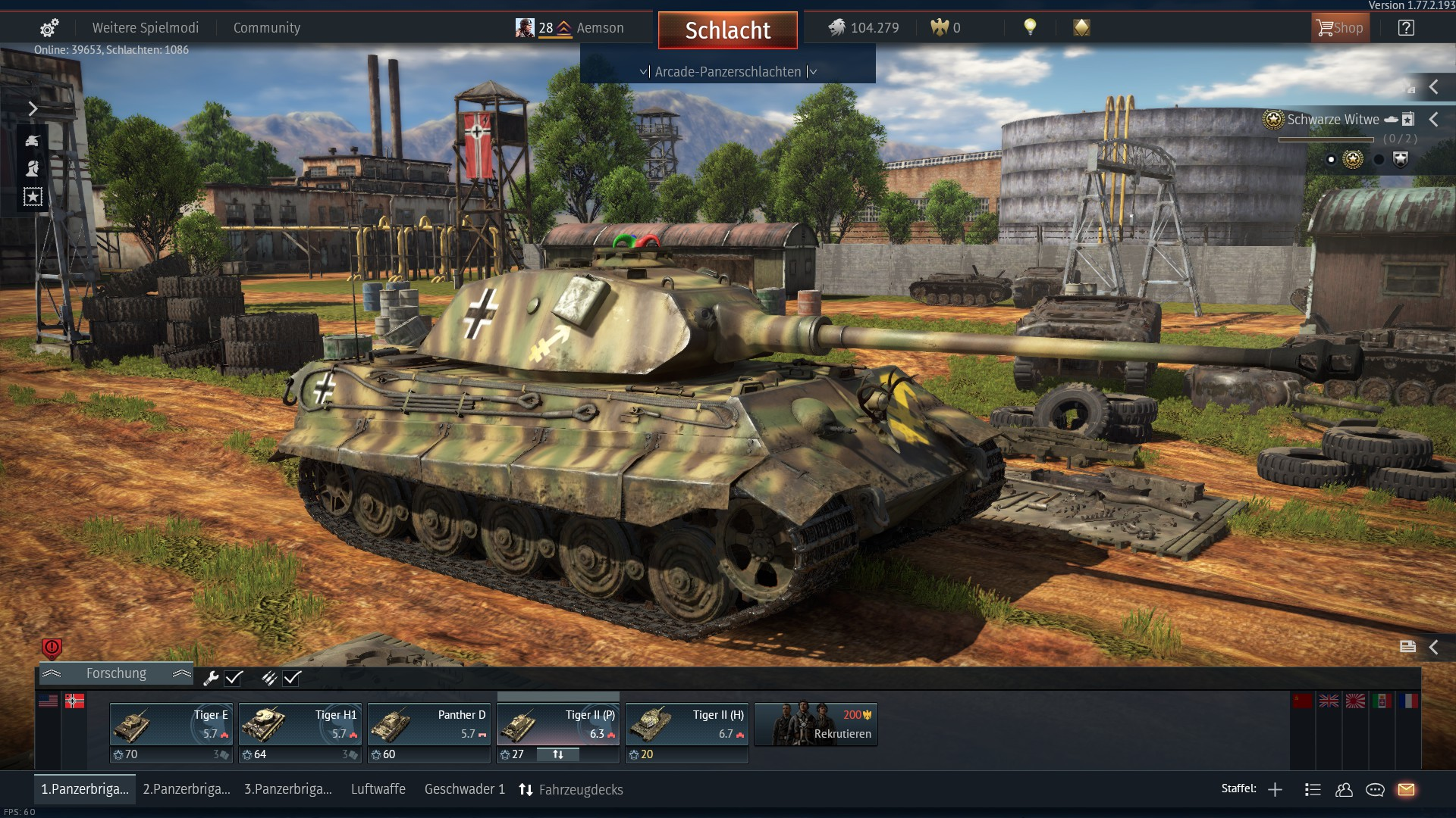 war thunder tiger 2 p