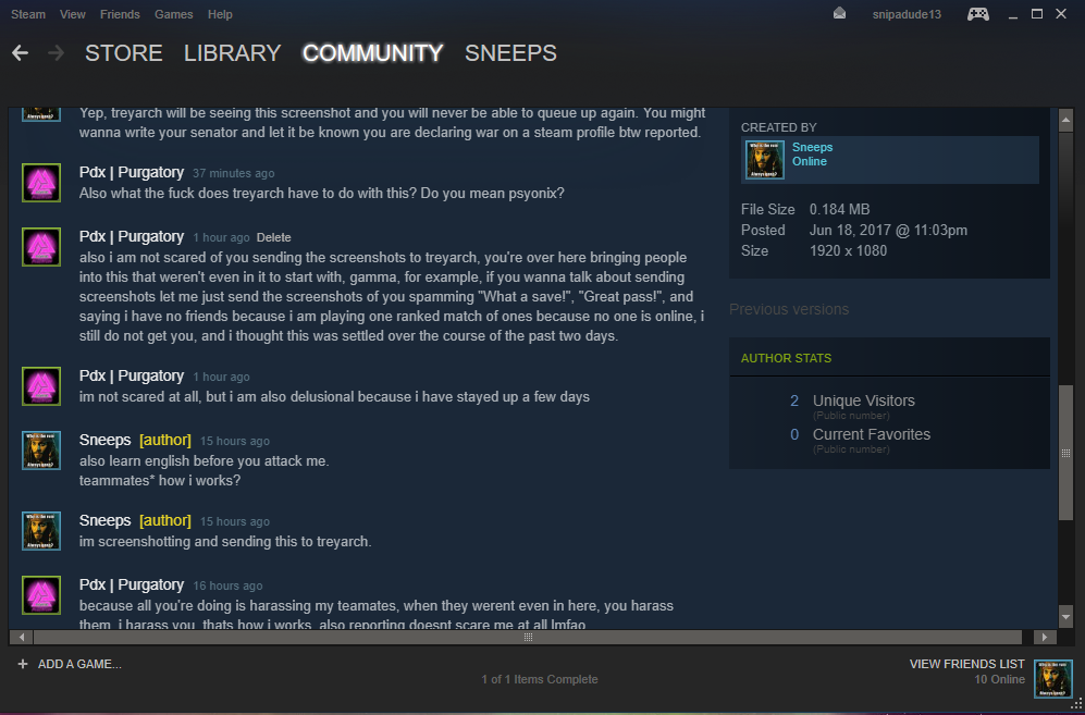 Steam Community Pdx Clan Is Toxic And Attacking My Profile