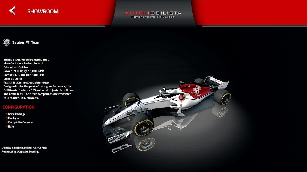 F1 2018 Cockpit Settings