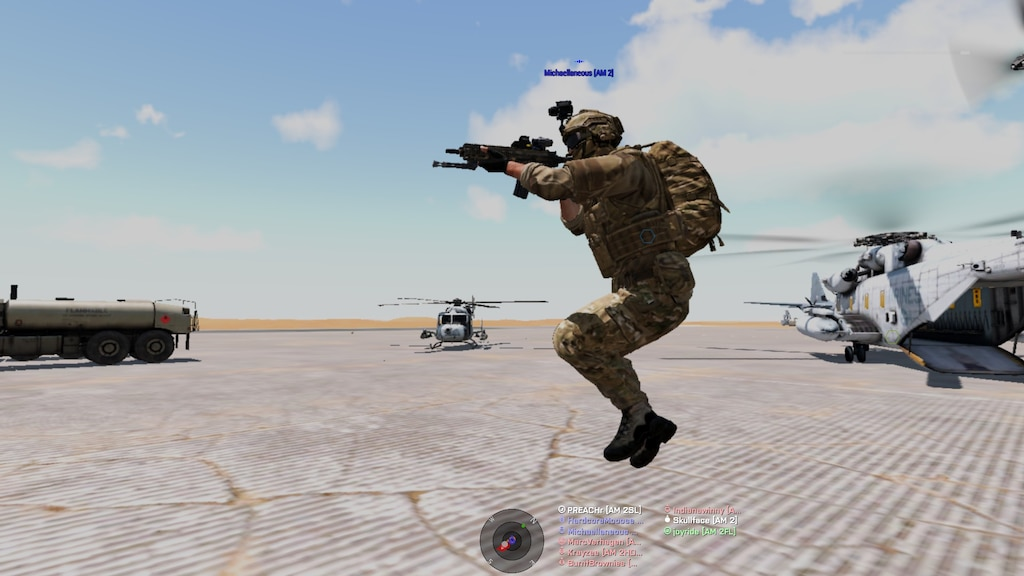 how to jump in arma 3