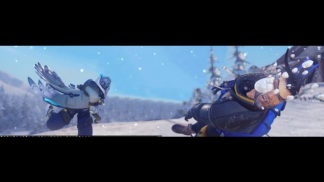 Steam Workshop Dual Monitor Overwatch Winter Wonderland