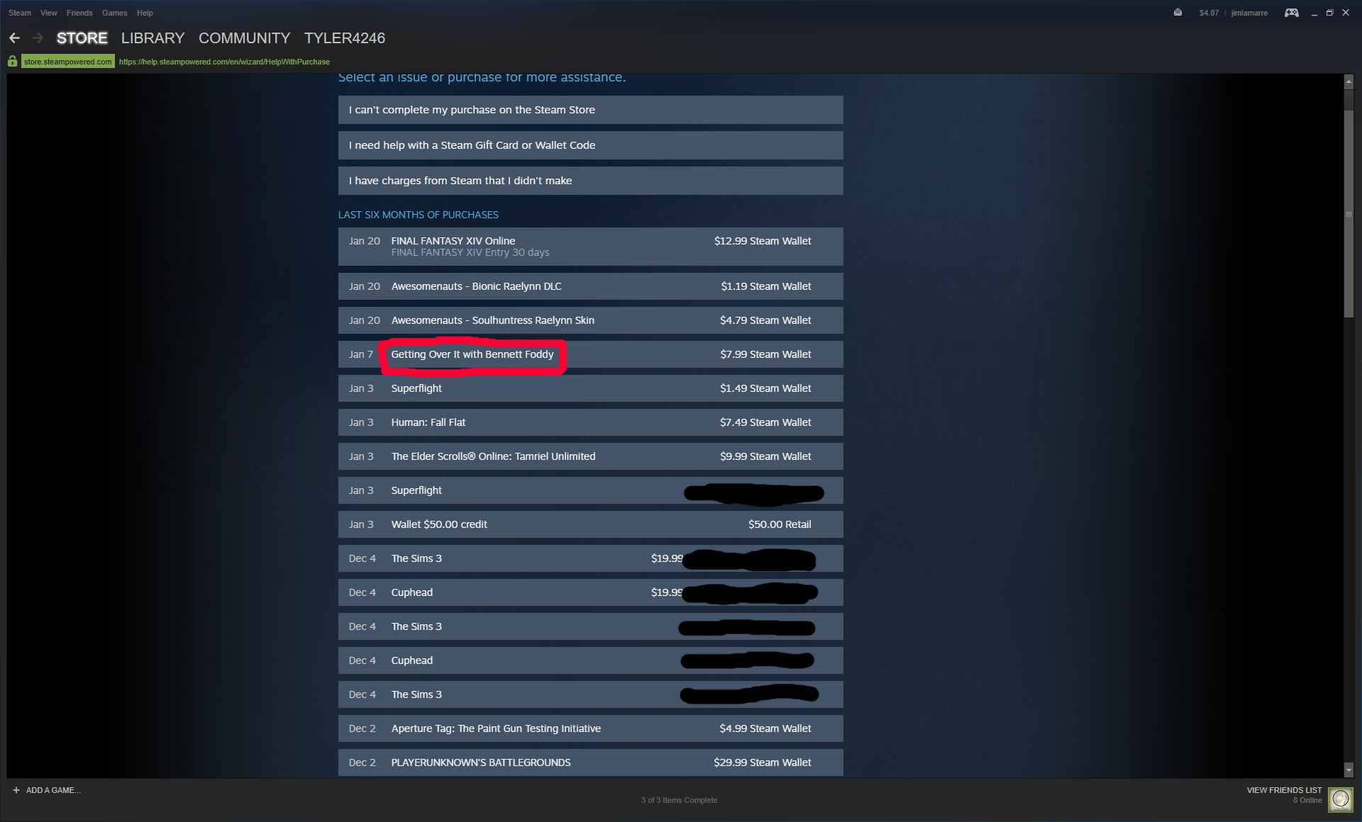 Steam Community Guide How To Enjoy Getting Over It With Wallet 4 Step Five Click The Box That Says I Would Like A Refund