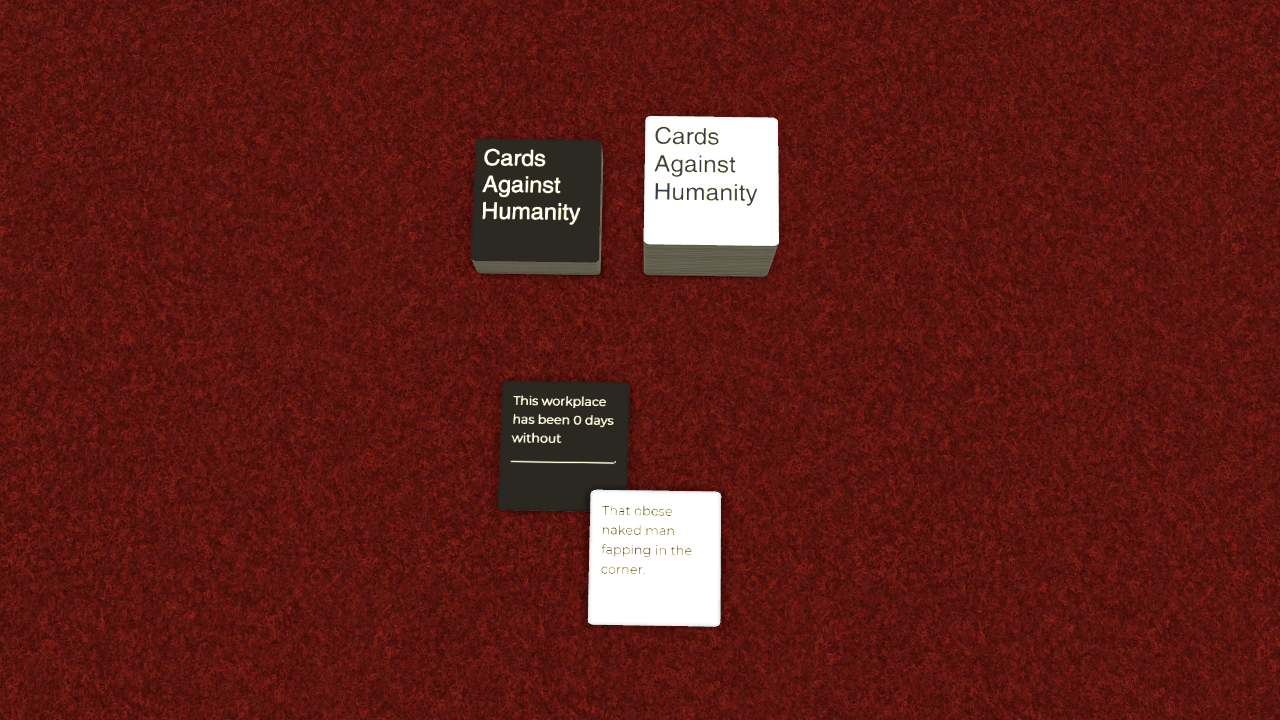 Are right. Cards for assholes