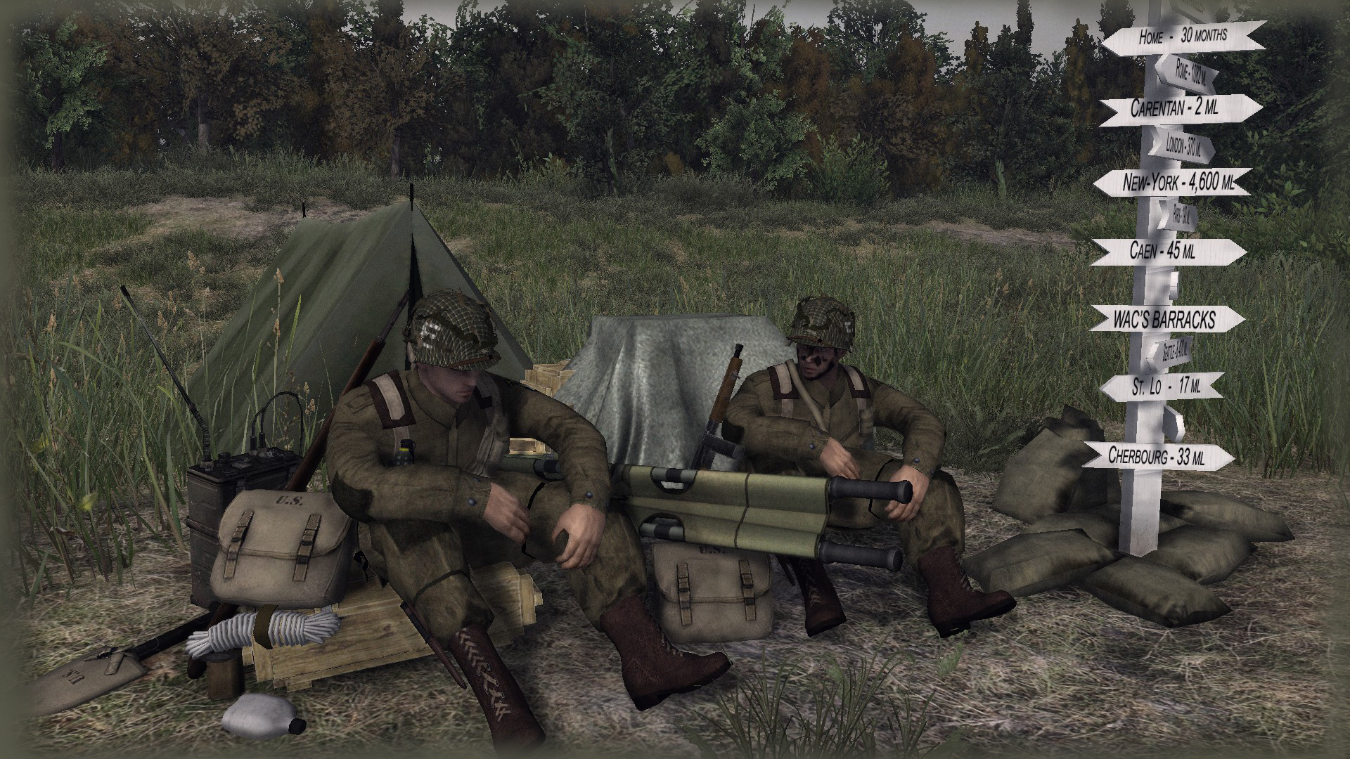 Comunidade Steam Captura De Ecra Two Gi S From Charlie Company 326th Airborne Engineer Battalion Of The 101st Airborne Division Normandy 1944