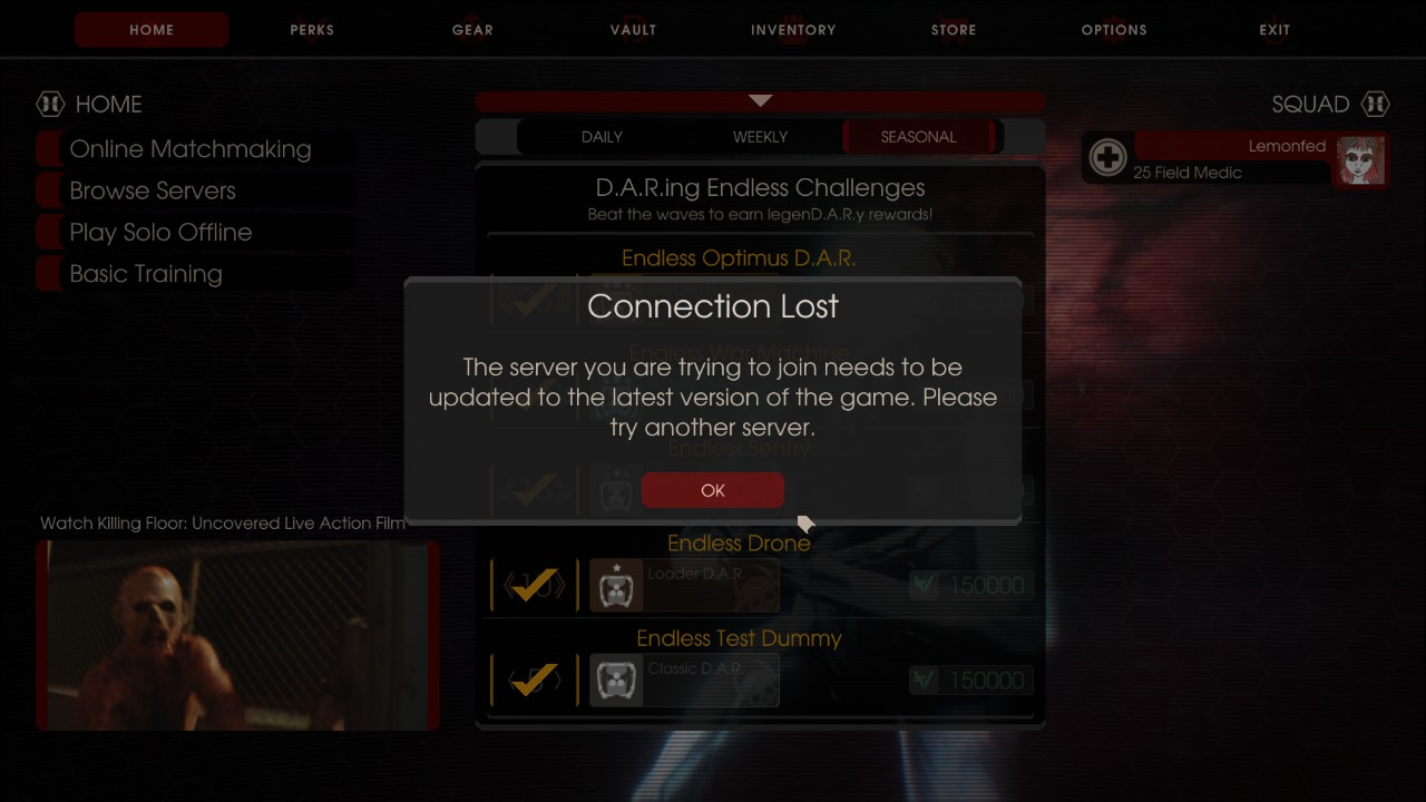 online matchmaking killing floor 2