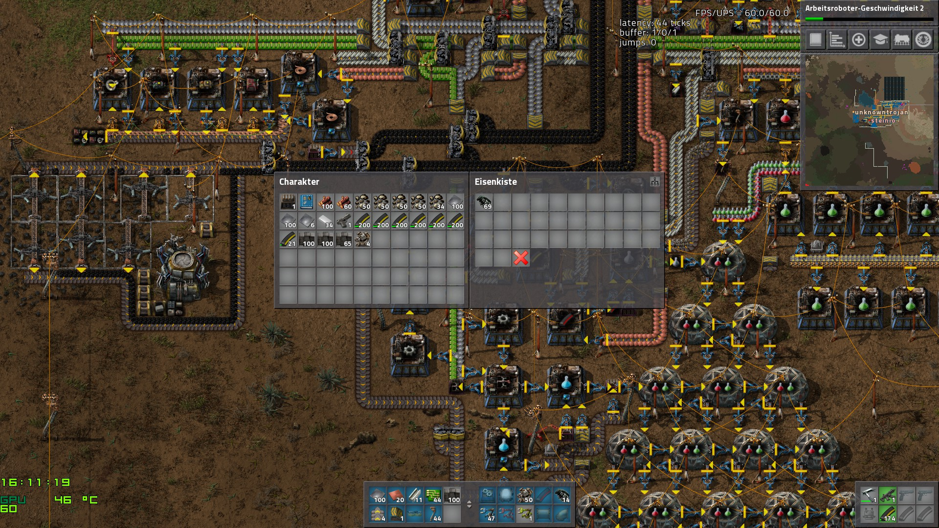kovarex] [0 16 16] Crash in multiplayer on manual inventory sorting