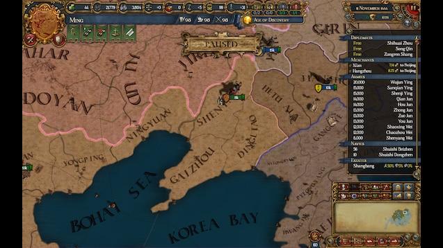 Steam Workshop :: Chen's EU4 mod: An Asian Overhaul Project