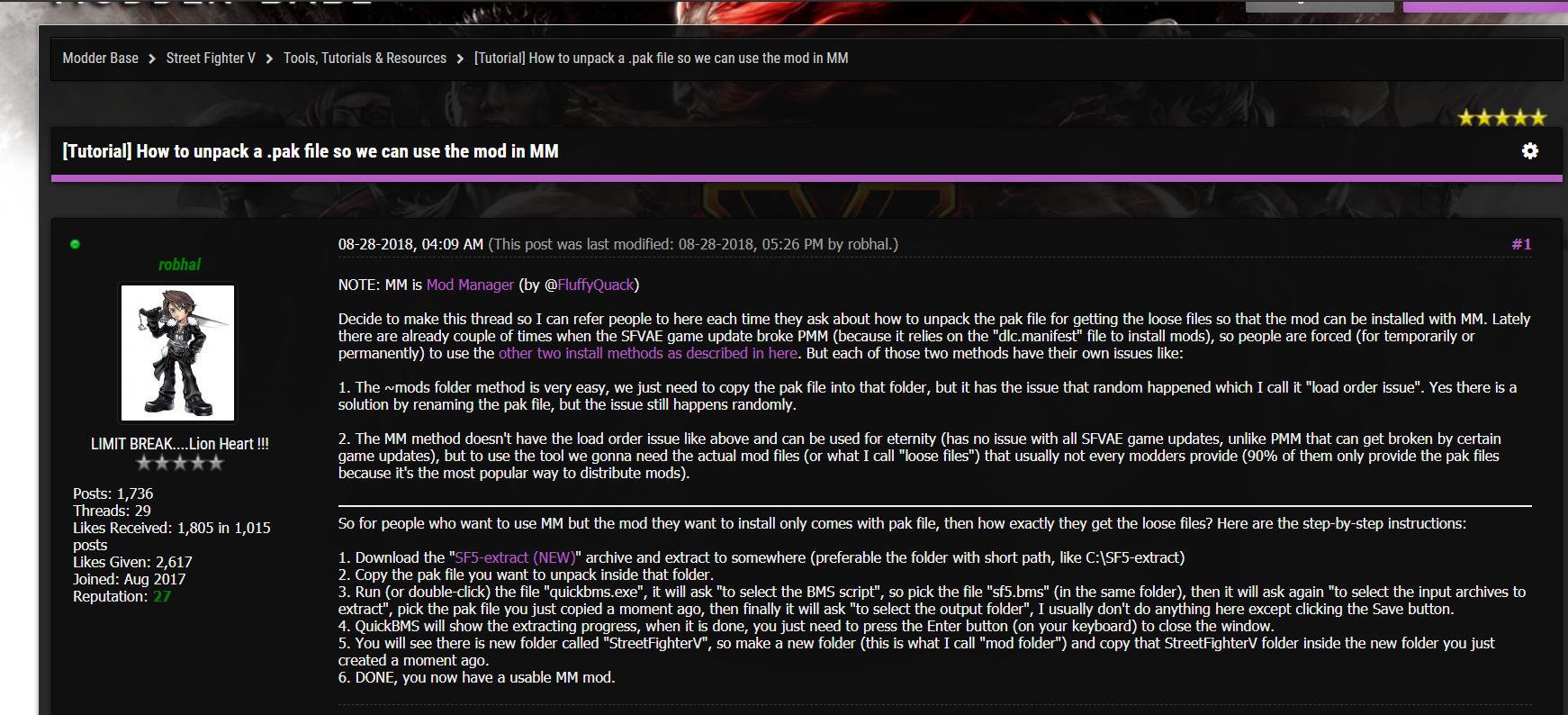 Steam 社区:: 指南:: 《街霸5》小白向MOD槽位修改教程(附安装
