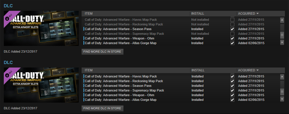 Steam Community :: Guide :: COD AW - DLC Quick Switch on