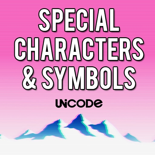 Steam Community Guide Special Characters Symbols