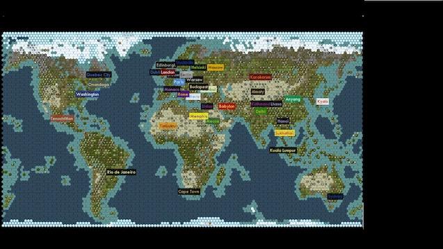 Steam Workshop Realistic World Map