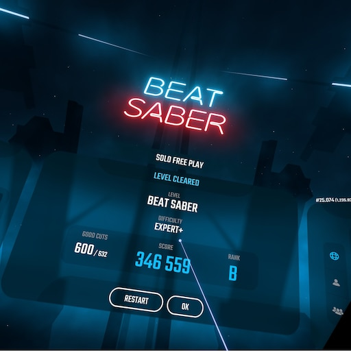 Steam Community :: Screenshot :: Finally did Beat Saber on