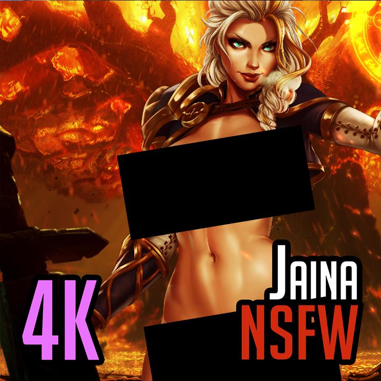 [M] Jaina, Teldrassil Burns (Nude) - World of Warcraft - Dandonfuga (vell)