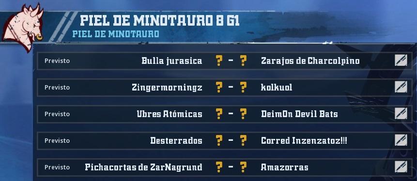 Campeonato Piel de Minotauro - Grupo 1 / Jornada 2 - hasta el domingo 24 de febrero - Página 2 5FD789B00E32603C82DDAE022C238125E5B83A34