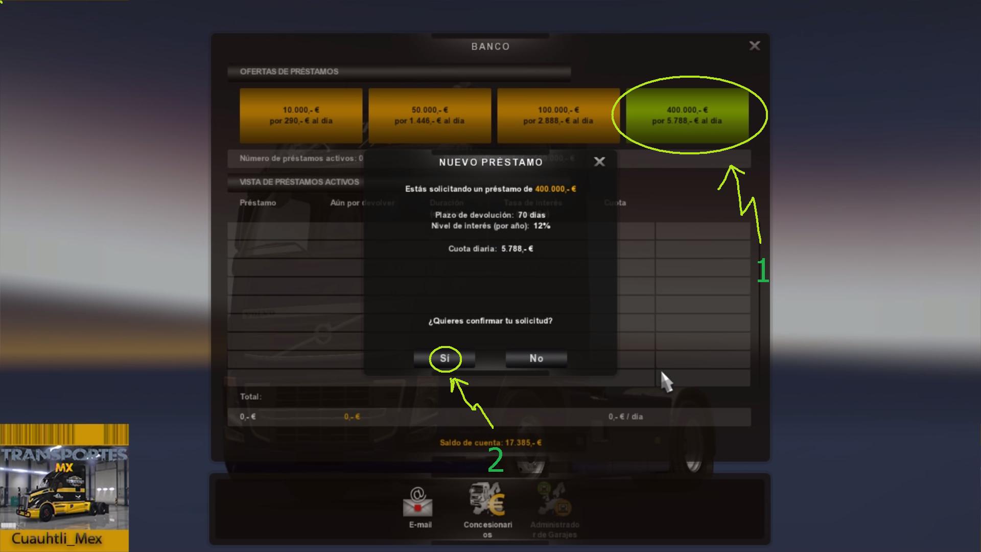 Steam community guide sube tus ingresos en ets 2 for Costo aggiuntivo garage
