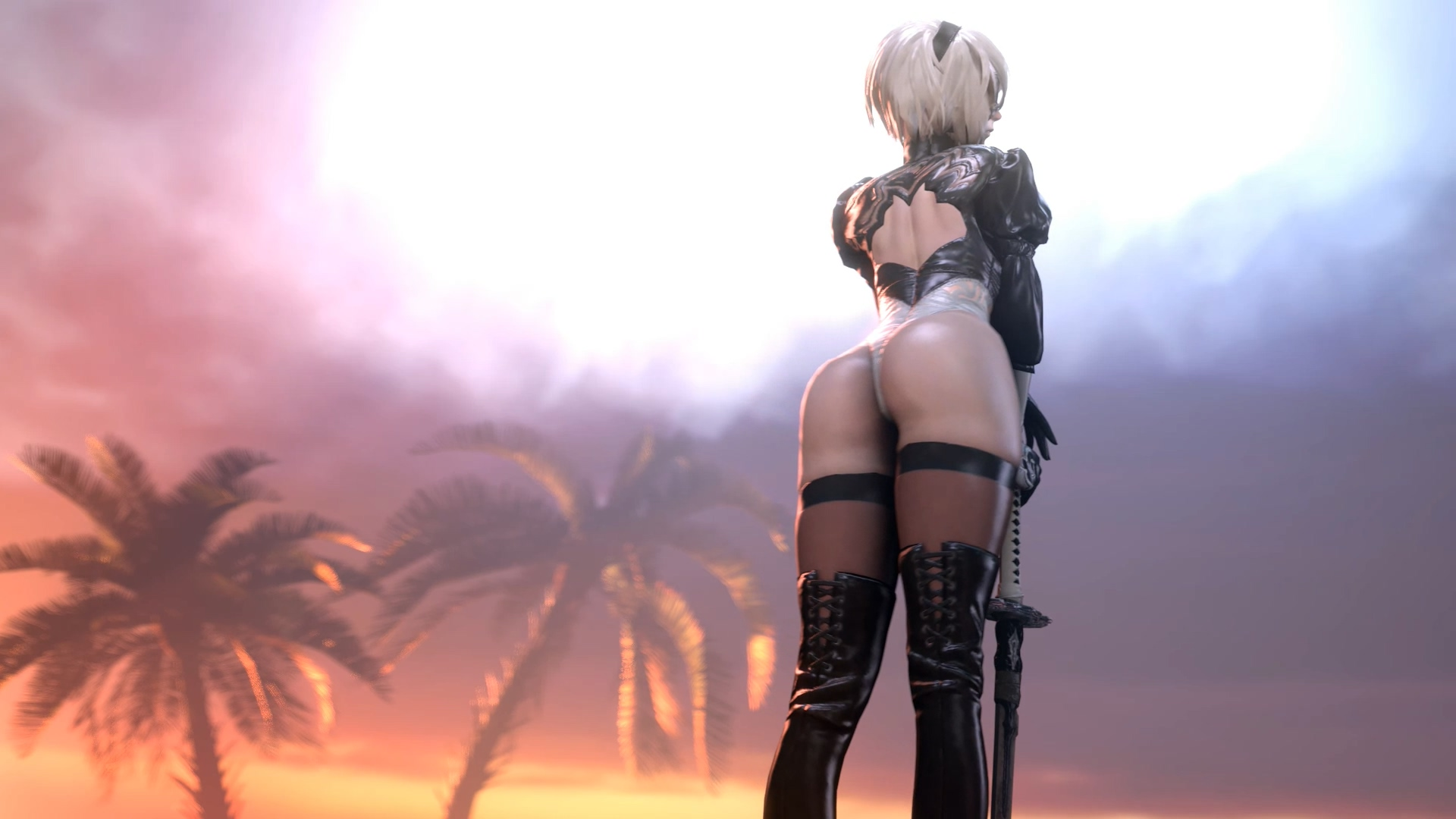 NieR: Automata-2B Showing Off her booty